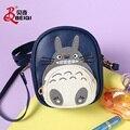 Saco de escola dos desenhos animados Totoro sacos de couro pu mulheres messenger bags crossbody bolsa feminina