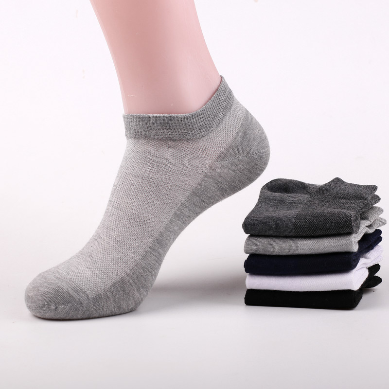 5pairs/lot Man's Pure Cotton Fashion Ankle Socks Big Size EU39-44 US8-10 Low Cut High Quality Men Men's Sox Net