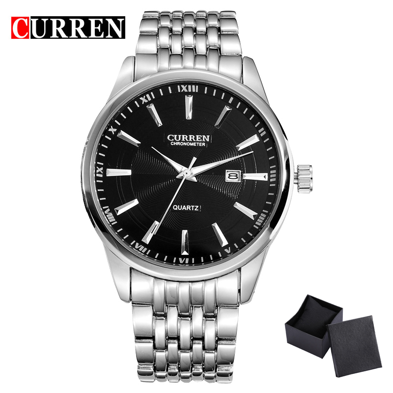 <font><b>CURREN</b></font> Watches Men Luxury Brand Business Casual Watch Quartz Watches Full Stainless Steel Wristwatch Relogio Masculino <font><b>8052</b></font> image