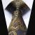 """TZP04Z8 Oro Gris Paisley 3.4 """"Los Hombres de Seda Corbata del lazo Pocket Square Pañuelo Gemelos Set Wedding Party Classic Corbata"""