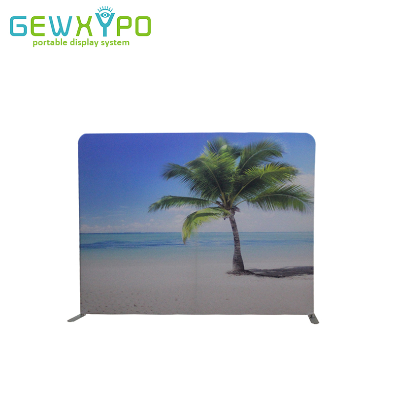Stand d'exposition 10ft * 7.5ft Tension droite tissu bannière publicité affichage toile de fond Stand avec votre conception personnalisée impression