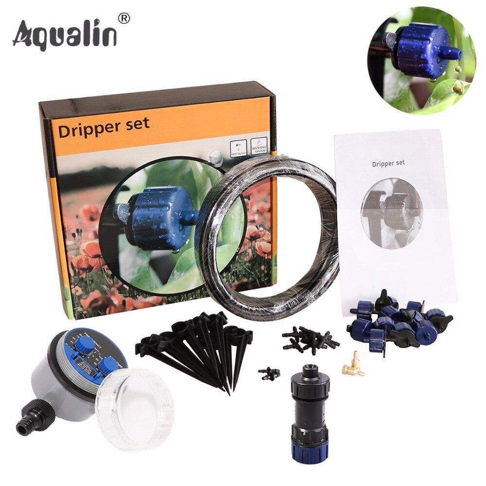 Nouveau Arrivial 10 m Automatique Micro Système D'irrigation Goutte À Goutte Jardin Goutteur Ensemble Arrosage Kits avec Réducteur de Pression #21025 W