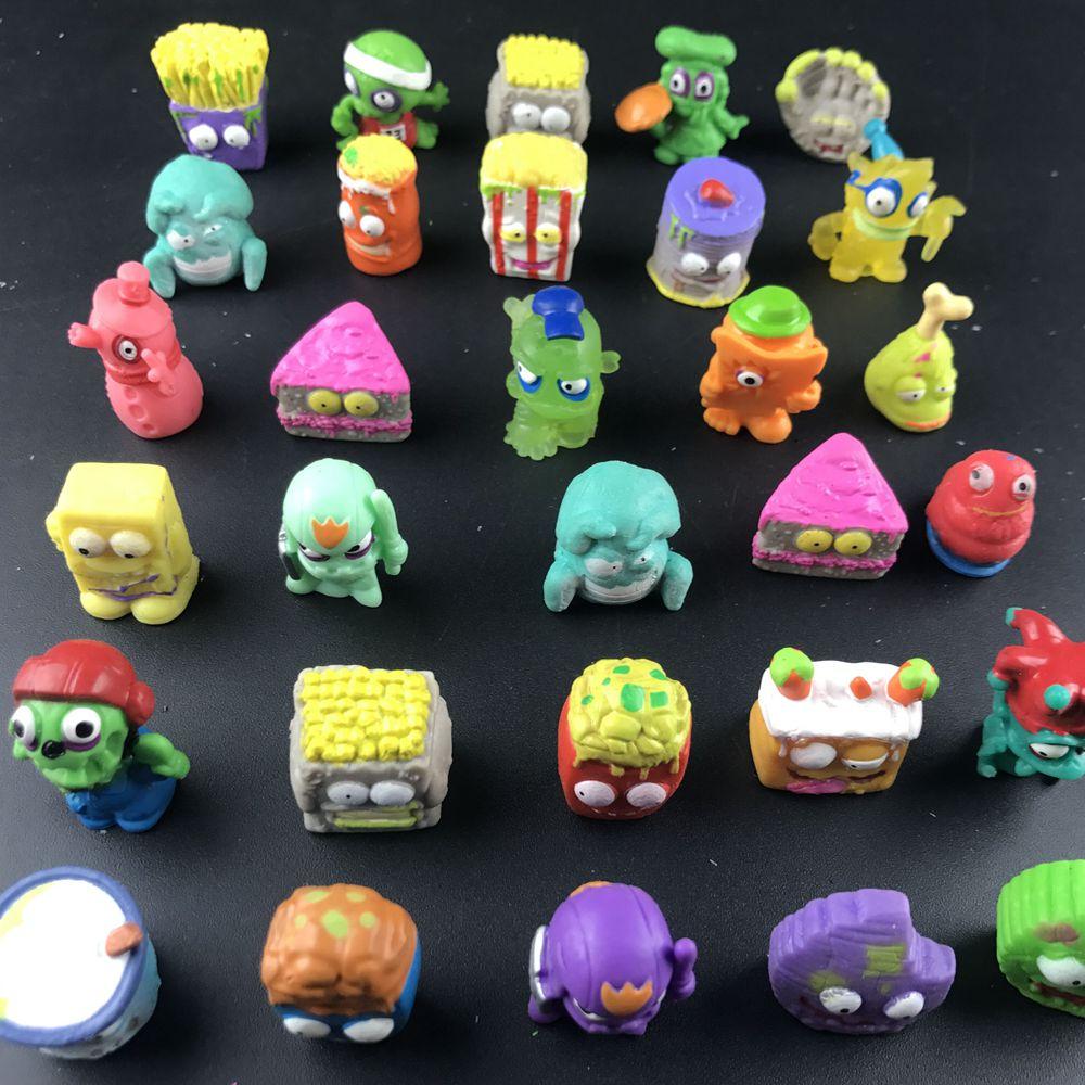 50 pçs/lote popular dos desenhos animados anime figuras de ação brinquedos lixo moose o grossery gang modelo brinquedo bonecas crianças presente natal