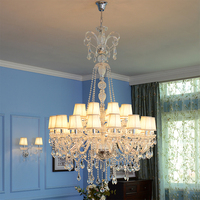 Large Traditional Chandelier Modern Large Foyer Chandeliers Luxury Candle Light Led Transparent Crystal Chandeliers Ceiling
