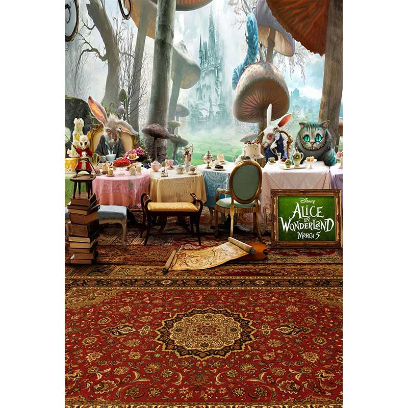 Custom vinyl cloth cartoon forest carpet cat on the table photography backdrops for photo studio portrait backgrounds CM-6980  сайдинг vinyl on 3660х230 мм серо голубой
