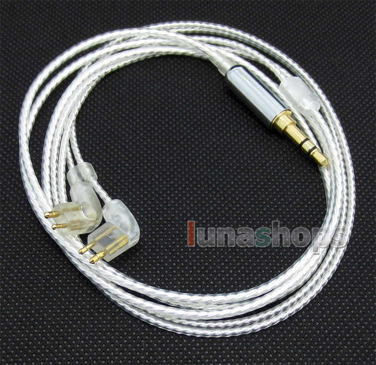 Silver Plated OCC Earphone Cable For Fit Ear MH334 MH335DW Go togo334 F111 PARTERRE-000 LN004255 800 wires soft silver occ alloy teflo aft earphone cable for ultimate ears ue tf10 sf3 sf5 5eb 5pro triplefi 15vm ln005407