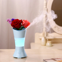 100ML Romantic Flower Fairy Ultrasonic Aromatherapy Diffuser 7 Changing Colors LED Essential Oil Diffuser Aroma Humidifiers