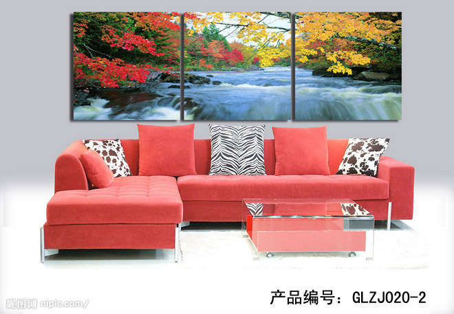 Modern Wall Art Home Decoration Printed Painting Pictures No Frame Canvas Prints 3 Pieces Life Fairy Stream Scenery no frame canvas