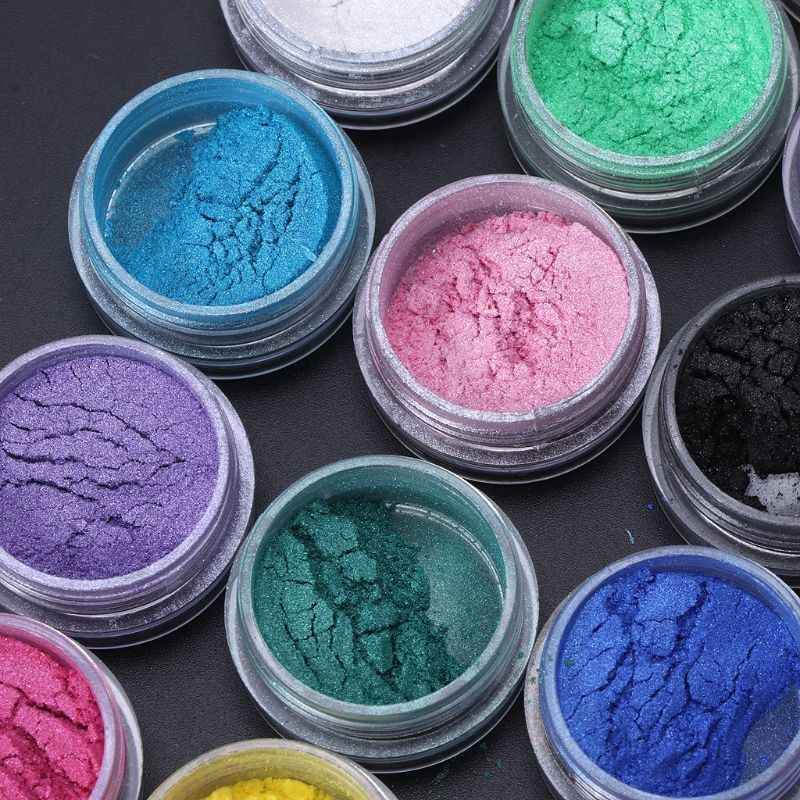 Joyas de resina colorante tinte pigmento de mica de perla en polvo superfino resina tinte arte