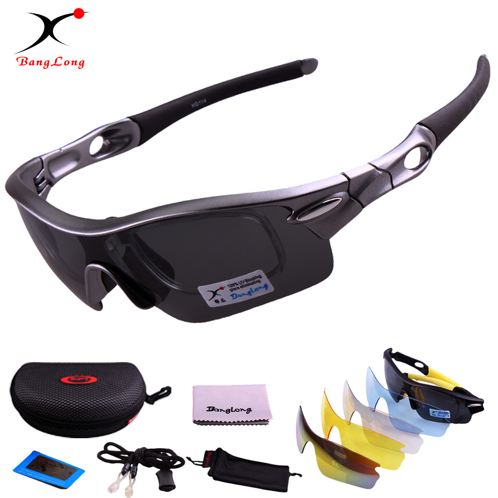 Men and Women Polarized grey Main Lens with interchange 4 function PC lens Sport eyewear Cycling sun glasses Sunglasses