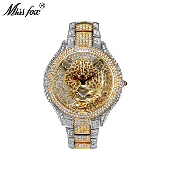 Miss Fox Mens Watches Top Brand Luxury Tiger Men Watch Quartz Contracted Choque Casual Genuine Silver Gold Wrist For