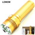Lomon 10 Вт T6 Высокой Мощности Алюминиевого Сплава Сильный Свет Фонарика