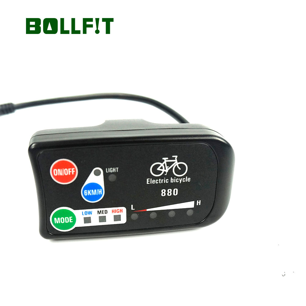 Image 2 - BOLLFIT E Bike Accessories KT E Bike Display LED 880 36V 48V Intelligent Control Panel Display For Electric Bicycle KitElectric Bicycle Accessories   -