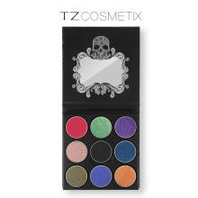 9 Colors Eyeshadow Palette Matte Diamond Glitter Foiled Eye Shadow in One Palette Blush Makeup
