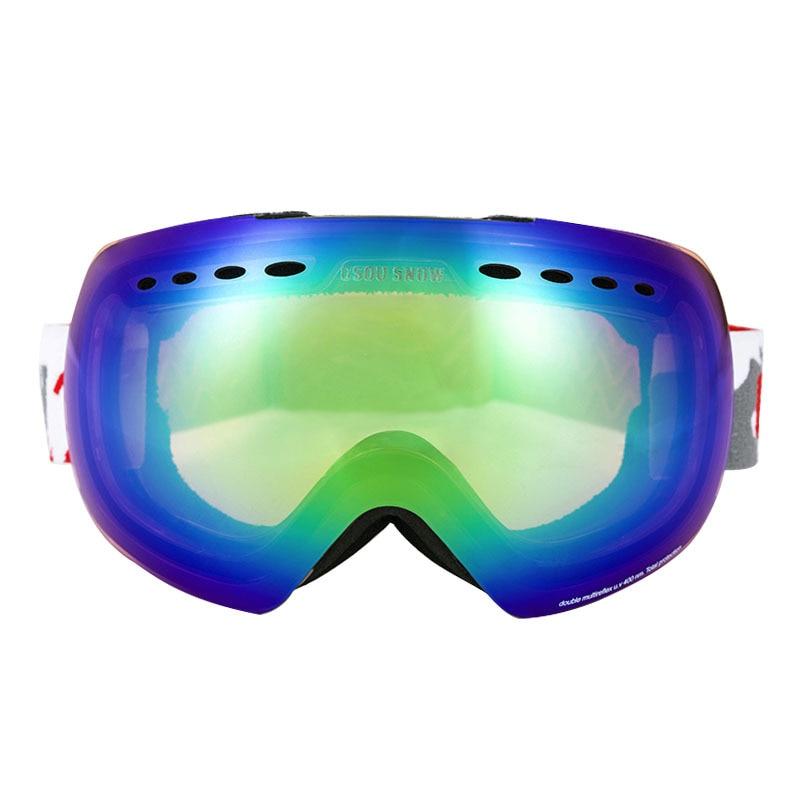 Gsou neige hommes et femmes lunettes de Snowboard Double Anti-buée UV400 grand masque de Motocross lunettes Esqui extérieur neige Ski lunettes