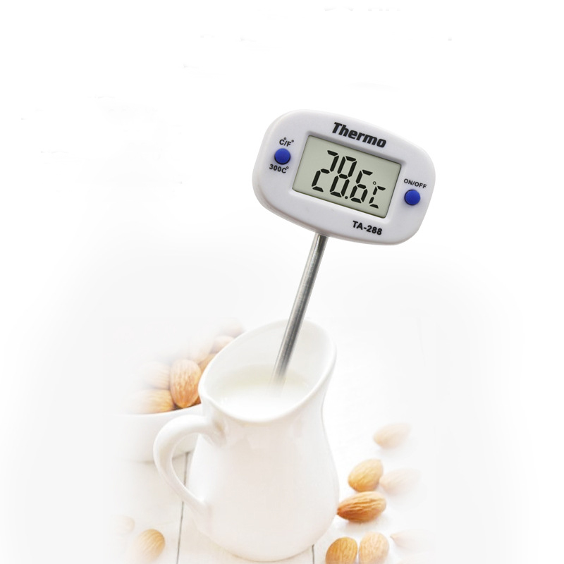 1PCS Digital Food Thermometer for Water Milk and BBQ Meat with 180 degrees Adjustable Head