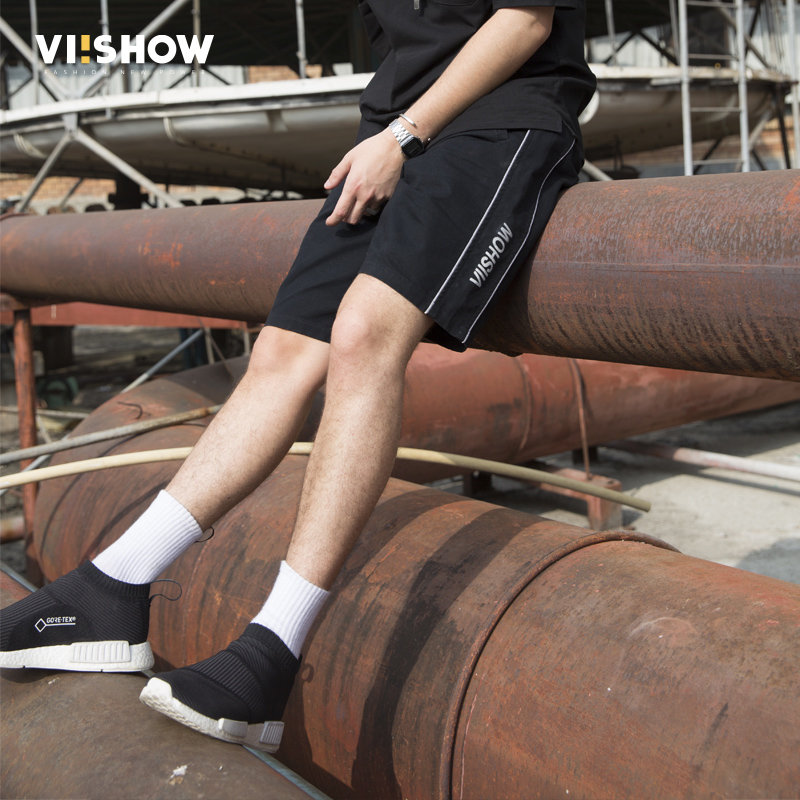 VIISHOW casual summer shorts men brand clothing fashion printed workerout short male quality bermudas masculina black KD1625182