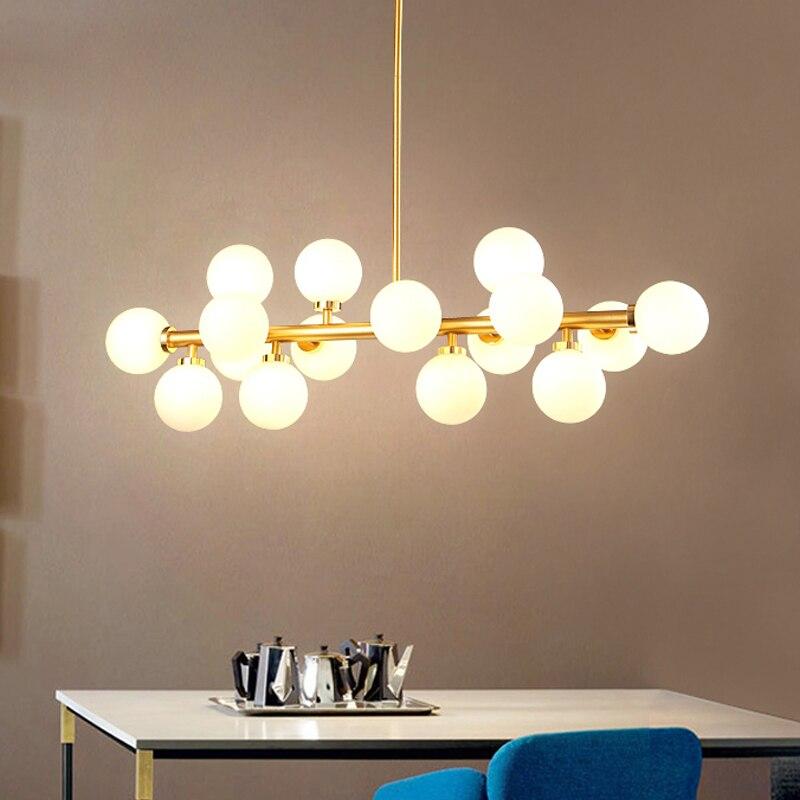 LED moderne lustre luminaire 16 LED lumières bulle lustre Restaurant Suspension Suspension Suspension goutte éclairage