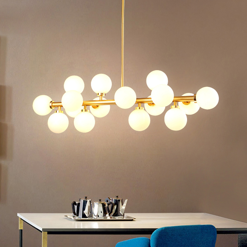 Modern LED Chandelier Light Fitting 16 LED Lights Bubble Chandelier Restaurant Hanging Lamp Pendant Suspension Drop Lighting