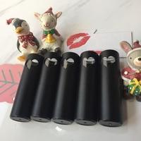 Free Shipping 12 1mm Black Heart Empty Lipstick Tube