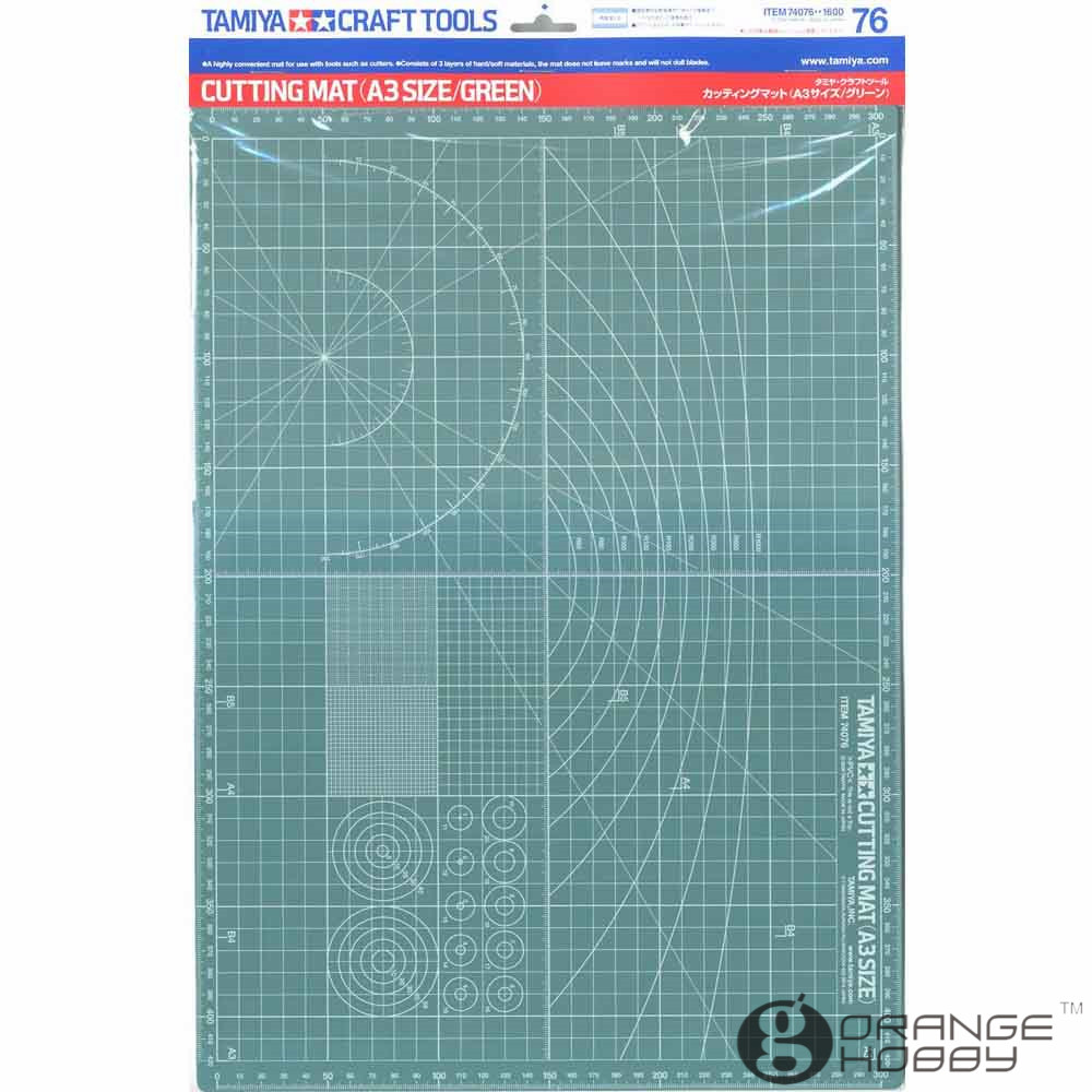 OHS Tamiya 74076 A3 Size Model Cutting Mat Green Model Hobby Cutting Tools Accessory