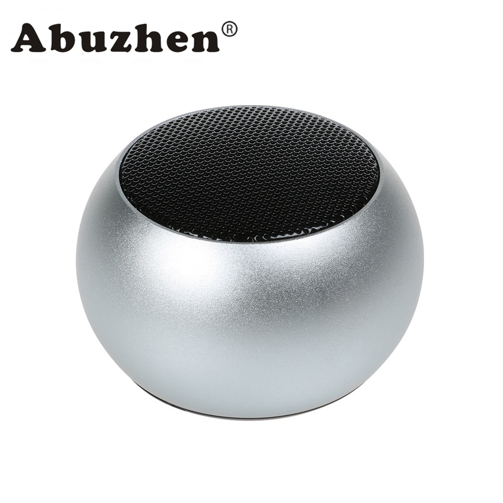 Abuzhen Wireless Bluetooth Speaker Mini Portable Subwoofer Sound with Mic MP3 Music Player Loundspeaker