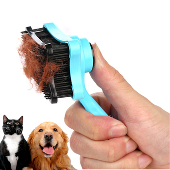 New Silicone Multi-purpose Pet Dog Cat Brush Hair Fur Shedding Trimmer Grooming Rake Professional Removal Comb Pet Suppy double side pet fur dog brush comb rake hair brush cat grooming deshedding trimmer tool dog comb pet brush rake 12 23 blades