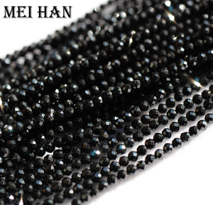 Image 3 - Meihan natural 2mm (10 strands/set) spinell seed beads faceted round for jewelry design precious fashion stone diy bracelet