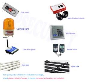 Image 2 - 800 キログラム自動ギア駆動式ゲートモーターヘビーデューティゲートオープナーと 4 メートルラック (フォトセル、ランプ、ボタン、キーパッド、 gsm オプション)