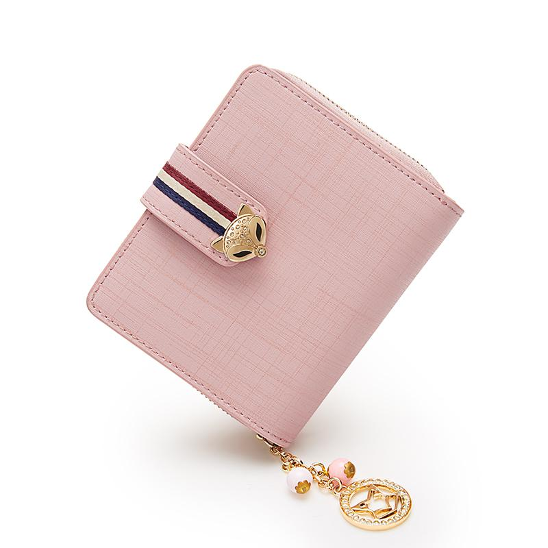 The New Short Small Leather Wallet Card  Multi Female Multifunctional Zipper Women Wallets Money Bag Coin Purse Purses Genuine
