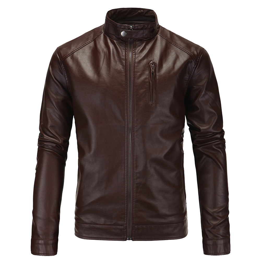 Polyester leather jacket