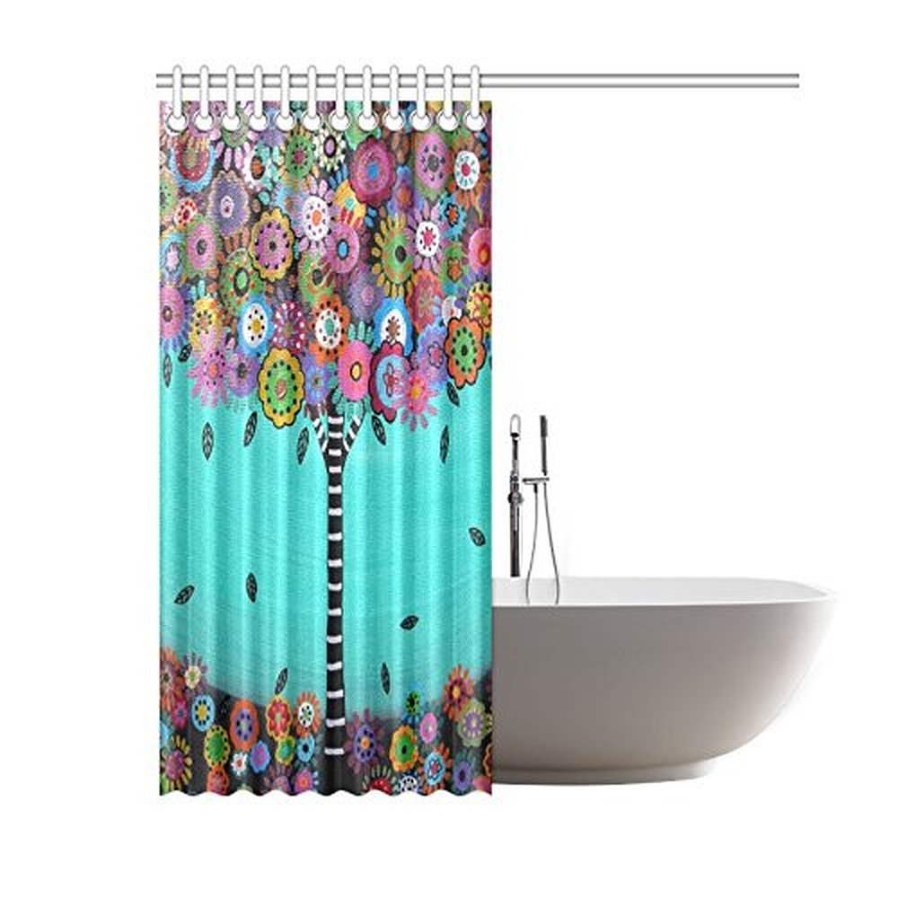 60(Width) X 72(Height) Mexican Style Flower Tree 100% Polyester Shower  Curtain Bath Curtain In Shower Curtains From Home U0026 Garden On  Aliexpress.com ...