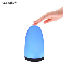 Tanbaby LED Bedside Table Lamps Touch Lamp Night Warm White Light RGB Color USB Power supply Bedrooms Living Room Night light