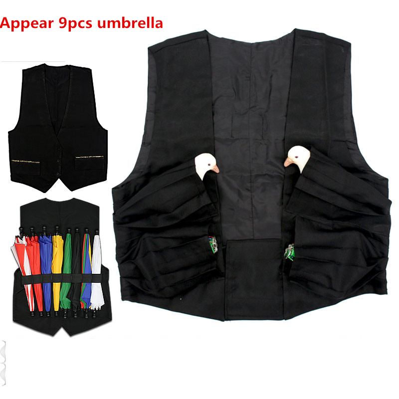 Parasol Umberlla Production Vest Three Sizes For Choice,Stage Magic Tricks,Magician Accessories,Fun,Magic Toys,Gimmick,Illusions
