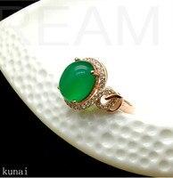 KJJEAXCMY fine jewelry Silver medullary diamond ring jewelry.