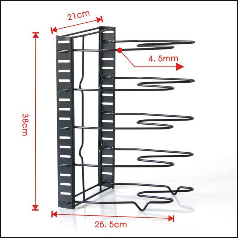 Image 2 - Multi Layer Extendable Metal Pot Shelf Rack Pan Kitchen Accessory Adjustable Stand Holder Rack Shelves Storage Shelf OrganizerRacks & Holders   -