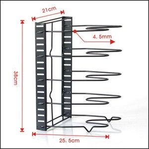 Image 2 - Multi Layer Extendable Metal Pot Shelf Rack Pan Kitchen Accessory Adjustable Stand Holder Rack Shelves Storage Shelf Organizer