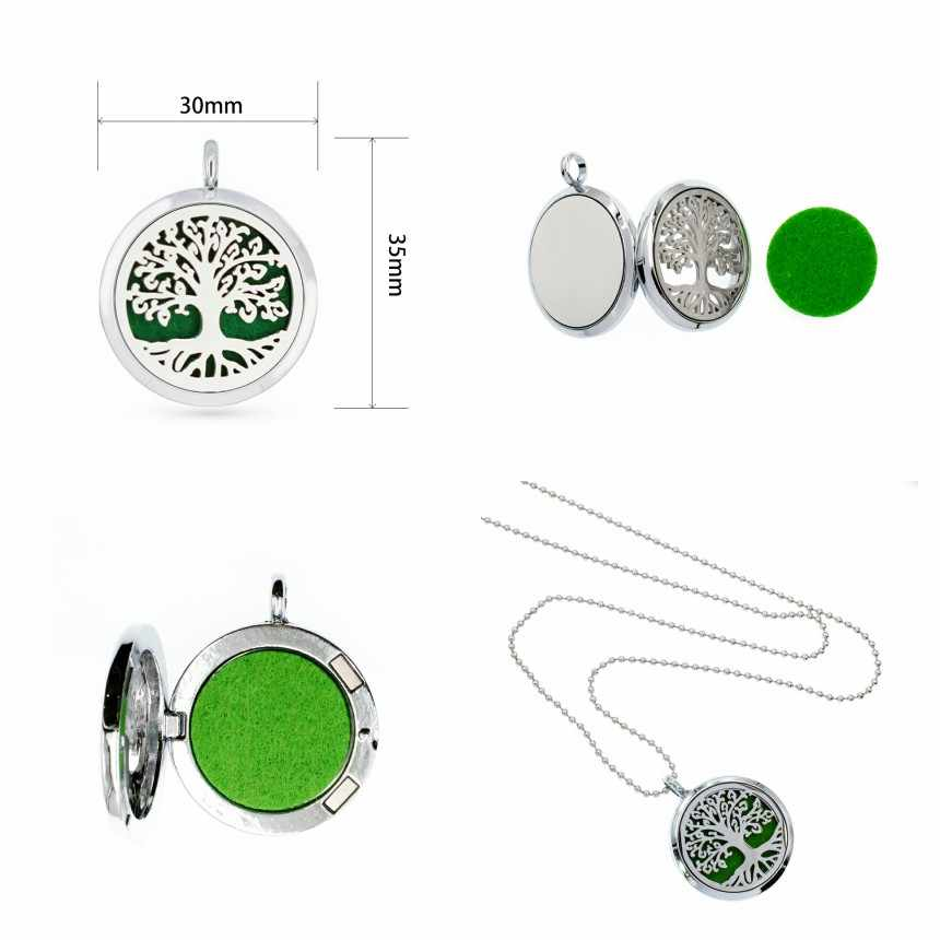 MAMA Bear live love dream Tree of life unicorn 30mm Perfume essential oil  diffuser locket pendant necklace jewelry 1 pad random