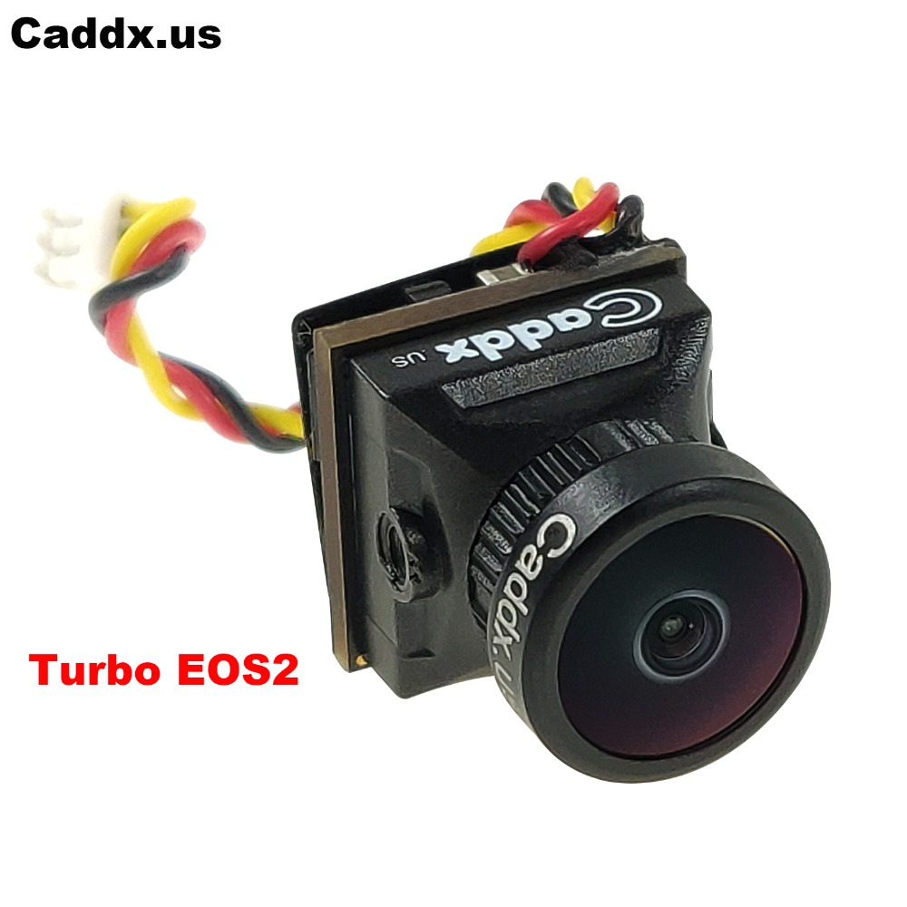 Caddx Turbo EOS2 1200TVL 2.1mm 1/3 CMOS 16:9/4:3 Mini FPV Camera  With Global WDR Micro Cam NTSC/PAL For RC Drone