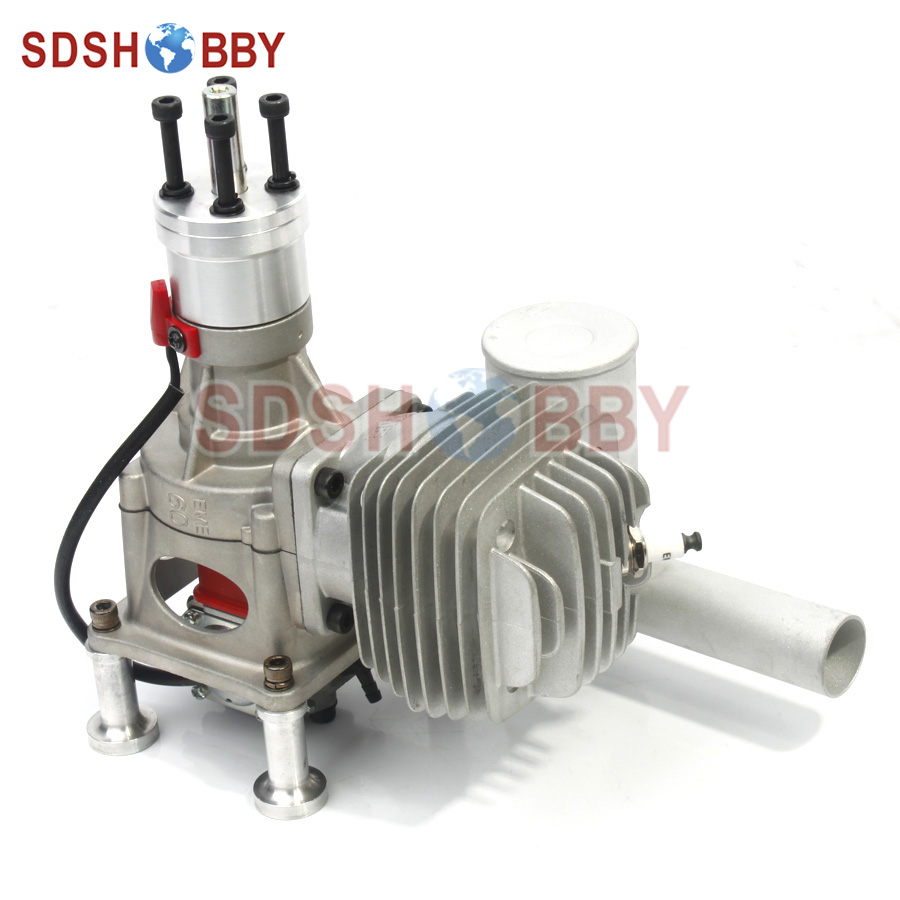 EME60 Gasoline Engine/ Petrol Engine for RC Model Gasoline Airplane aluminum water cool flange fits 26 29cc qj zenoah rcmk cy gas engine for rc boat