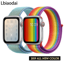Sport Loop strap For Apple Watch band 4 3 iwatch band 42mm 44mm 38mm 40mm Nylon correa bracelet for apple watch Accessories(China)