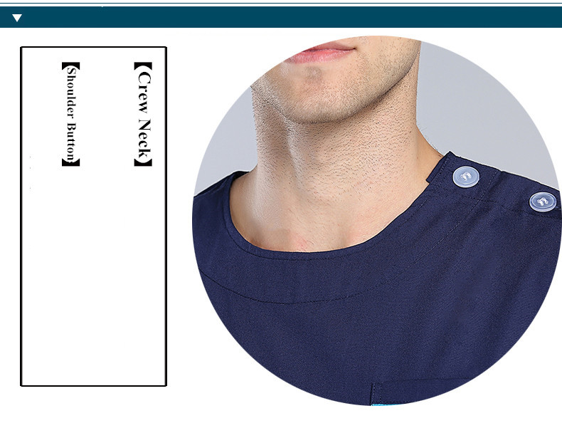 Комплекты медицинской одежды для женщин и мужчин, комплекты медицинской униформы, вырез лодочкой, пуговицы на плечах, штаны, стоматологические скрабы, рабочая одежда