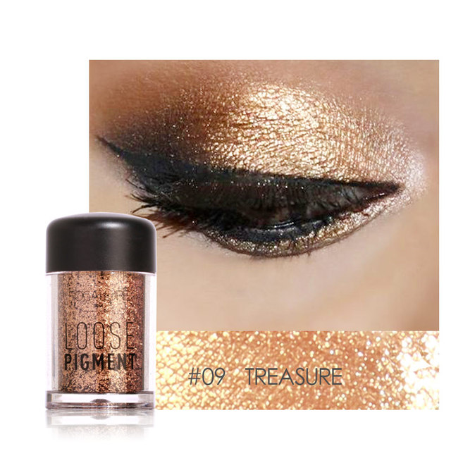 Focallure Marca Shimmer Eyeshadow Pigmento Glitter Sombra Em Pó Solto À Prova D' Água 3D Metálica Nu Sombra de Olho Maquiagem Cosméticos