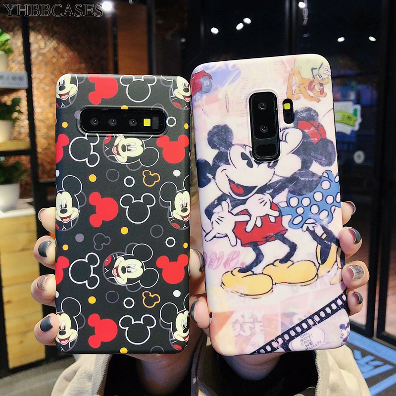 YHBBCASES Cartoon Mouse Phone Cover For Samsung Note 10 8 9 Retro Cute Mickey IMD Soft Case Galaxy S10 5G S8 S9 Plus