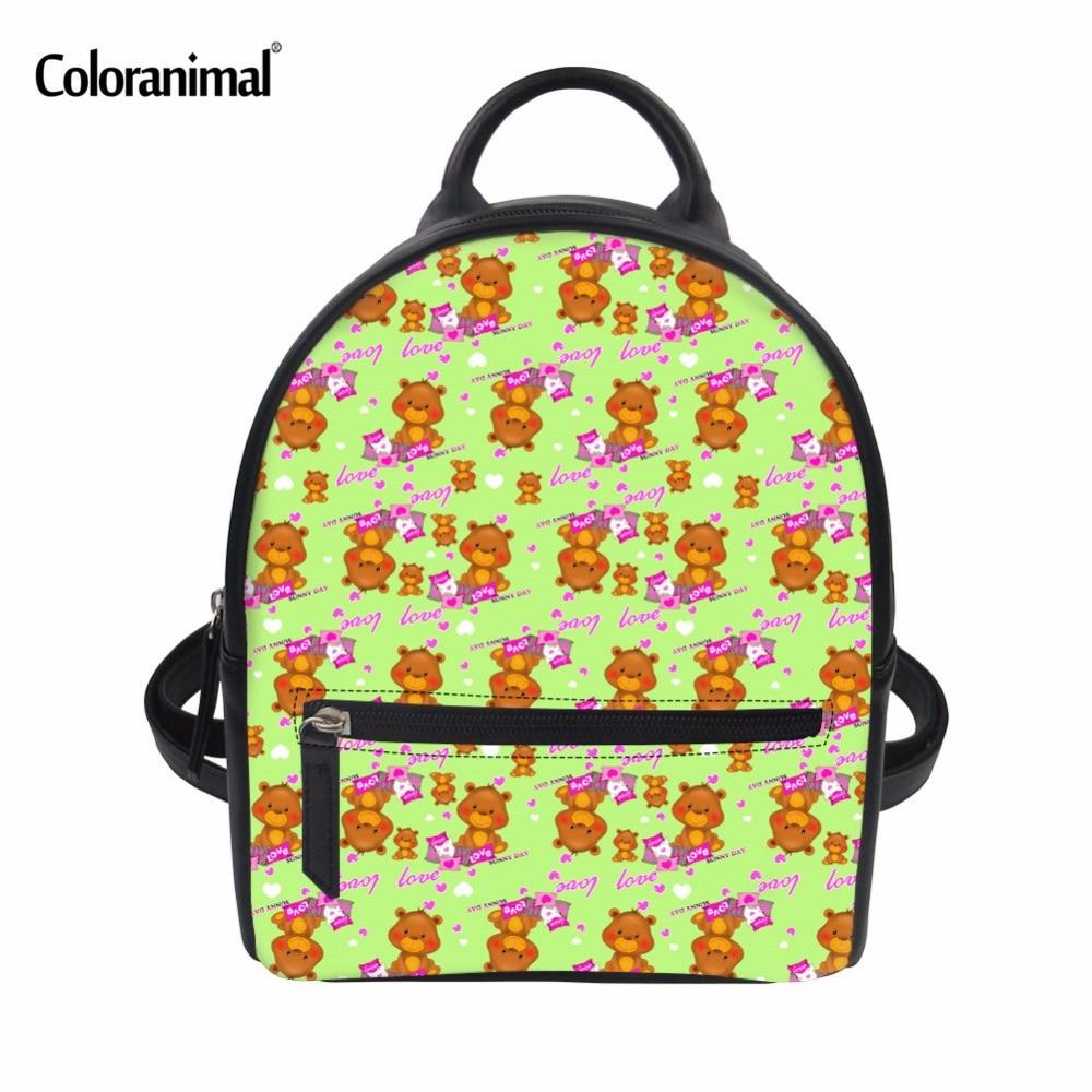 7ff35f89180e US $17.99 25% OFF|Coloranimal School Bags for Teenager Girl Boys 3D  Printing Women Designer School Shoulder Backpack Cartoon Panda Mini Book  Bags -in ...