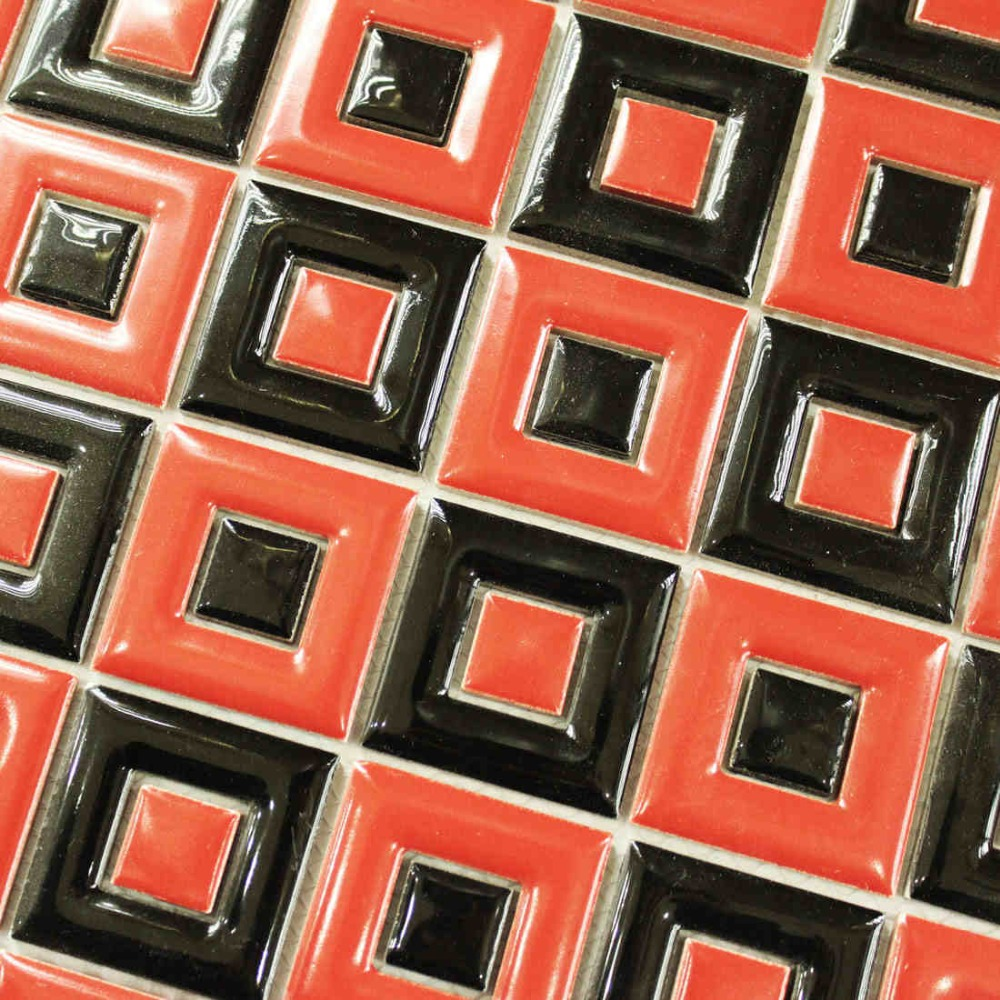 Redblack ceramic mosaic tile kitchen backsplash bathroom wall tiles redblack ceramic mosaic tile kitchen backsplash bathroom wall tiles shower background wallpaper hallway fireplace decoration in wallpapers from home dailygadgetfo Images