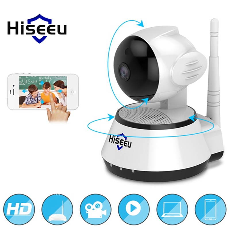 Hiseeu FH2A Wireless 720P Security IP Camera Audio Record Surveillance Baby MonItor 110 Degree 3.6mm Two Way Audio Night Vision