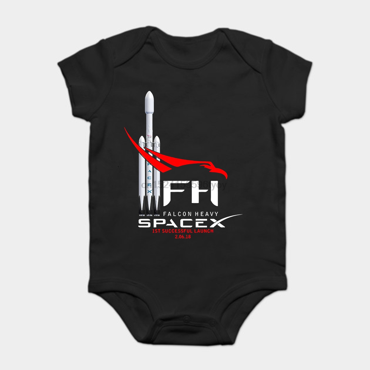 Baby Onesie Baby Bodysuits Kid T Shirt Fast Ship Spacex Rocket Space Tee Free Shipping Falcon Heavy Summer Yet Not Vulgar