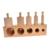 BOHS Paquete Familiar de Aprendizaje Temprano De Madera Socket Cilindro Educación Montessori Juguete 4 unids/set