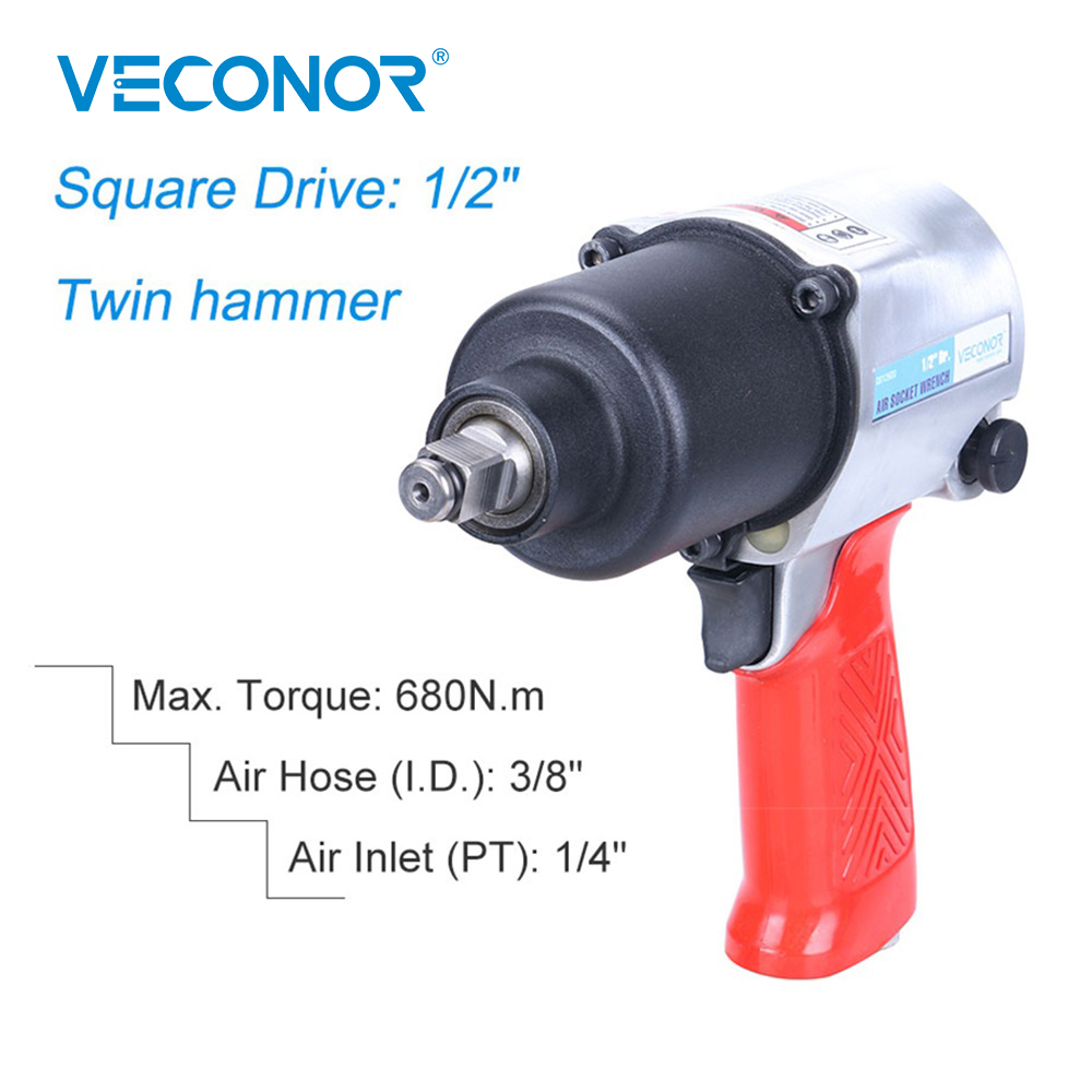 """1/2"""" Square Drive Air Hammer Impact Socket Wrench Pneumatic Tools Heavy Duty High Torque For Car Garage Repairing"""